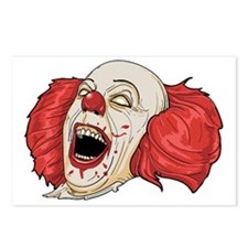 Evil clown Postcards (Package of 8)