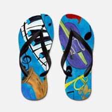 Jazz Music art Flip Flops