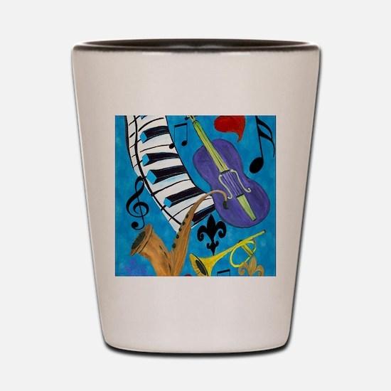 Jazz Music art Shot Glass