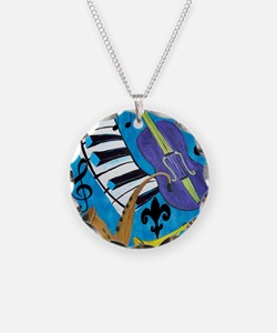 Jazz Music art Necklace