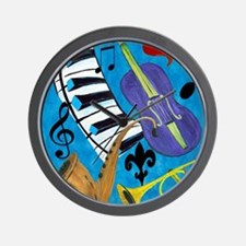 Jazz Music art Wall Clock