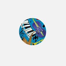 Jazz Music art Mini Button