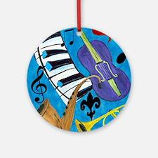 Jazz Music art Round Ornament