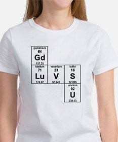 Periodic Table God Loves You Women's T-Shirt