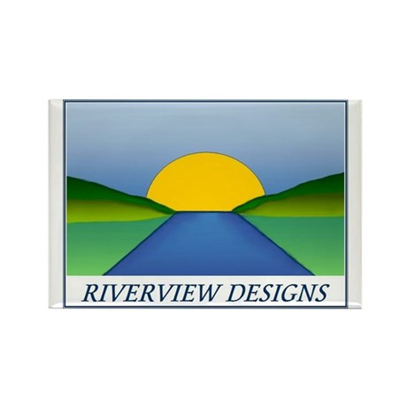 Riverview Designs Logo Rectangle Magnet