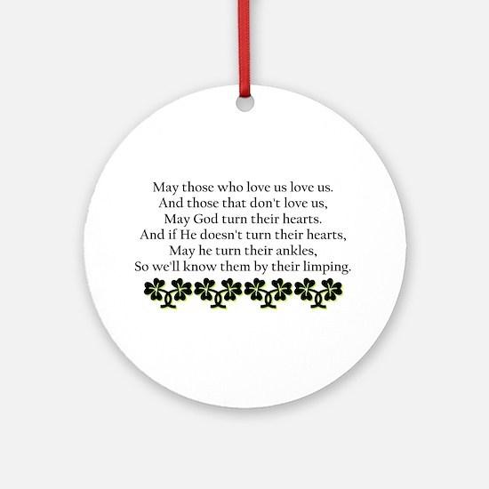 Irish Blessing? Ornament (Round)