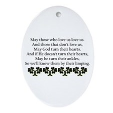Irish Blessing? Oval Ornament