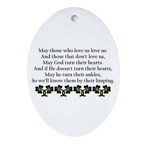 Irish Blessing? Oval Ornament