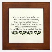 Irish Blessing? Framed Tile