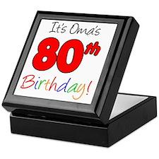 Oma 80th Birthday Keepsake Box