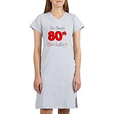 Oma 80th Birthday Women's Nightshirt