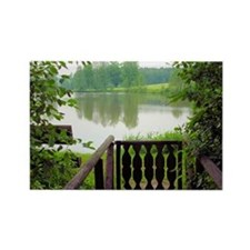 Greeting Card, German Lake near B Rectangle Magnet