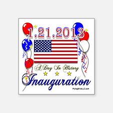 """1-21-2013 Inauguration Square Sticker 3"""" x 3"""""""