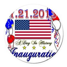 1-21-2013 Inauguration Round Car Magnet