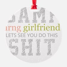 BAMF ARNG Girlfriend Ornament