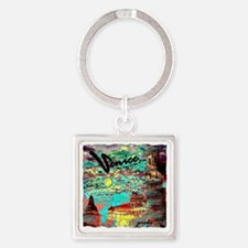 leaning tower pisa venice awesome  Square Keychain