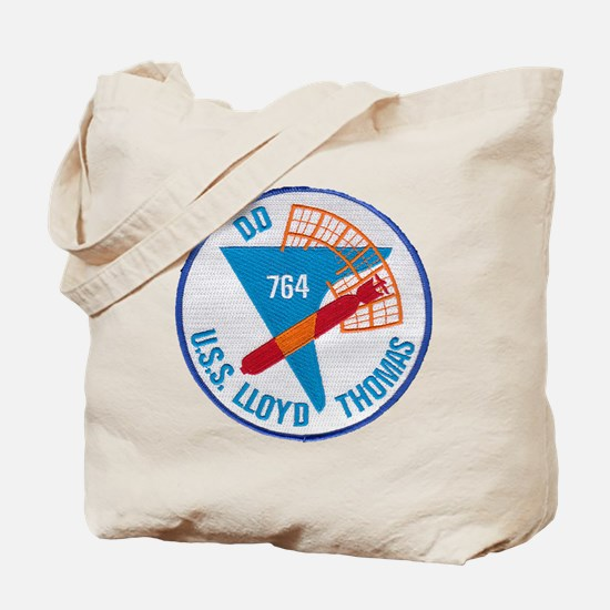 uss lloyd thomas patch transparent Tote Bag