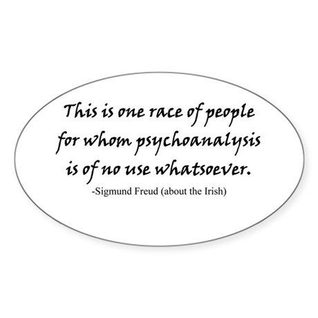 Freud and the Irish Oval Sticker
