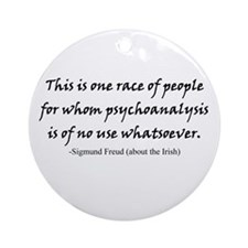 Freud and the Irish Ornament (Round)