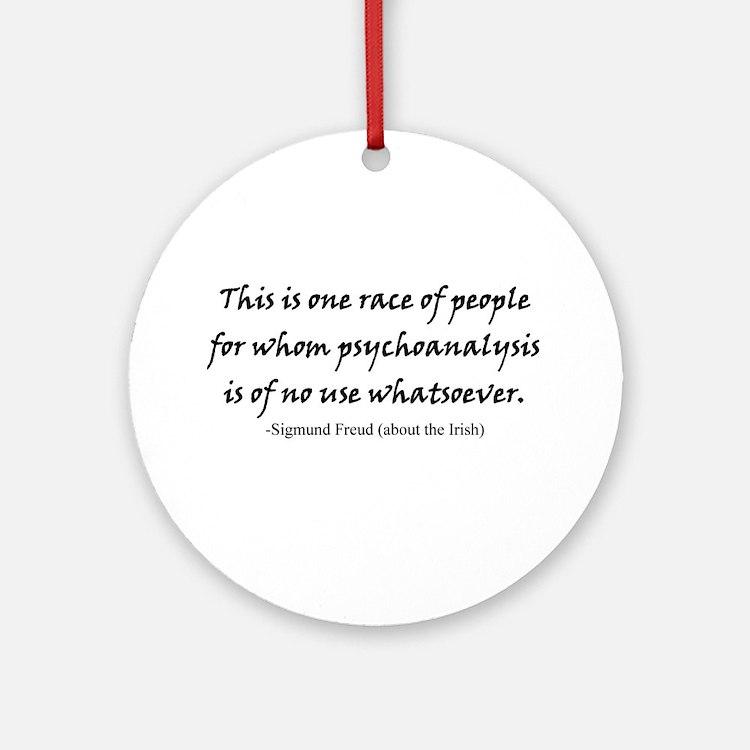 Freud and the Irish Ornament (Round)