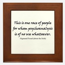Freud and the Irish Framed Tile