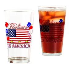 Believe In America Drinking Glass
