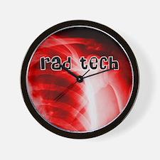 rad tech electronic skins Wall Clock