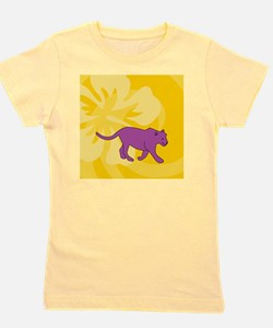 Panther Square Car Magnet 3 x 3 Girl's Tee