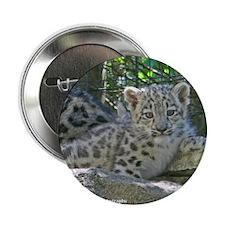"""Snow Leopard Cub 2.25"""" Button"""