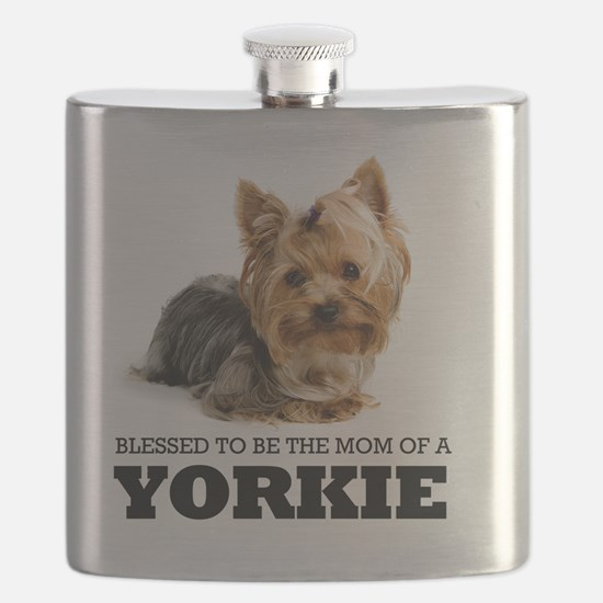 Blessed YORKIE MOM Flask
