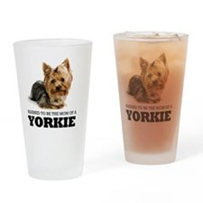 Blessed YORKIE MOM Drinking Glass
