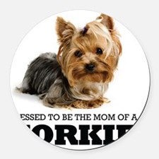 Blessed YORKIE MOM Round Car Magnet