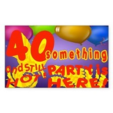 40 Something Party Decal