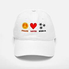 Peace Love Ninja Baseball Baseball Cap