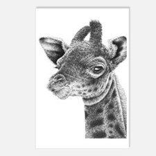 Giraffe Calf Power Bank Postcards (Package of 8)