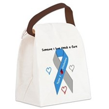 Type 1 Diabetes Awareness Ribbon  Canvas Lunch Bag