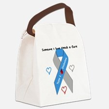 Type 1 Diabetes Awareness Ribbon  Canvas Lunch Bag