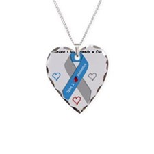 Type 1 Diabetes Awareness Rib Necklace Heart Charm