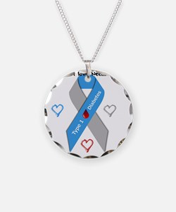 Type 1 Diabetes Awareness Ri Necklace Circle Charm