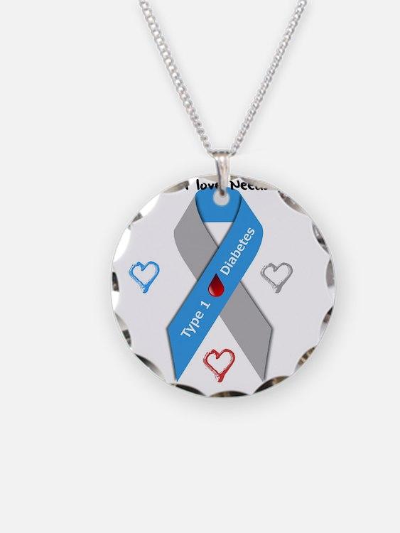 Type 1 Diabetes Awareness Ri Necklace Circle Charm