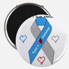 Type 1 Diabetes Awareness Ribbon Love Cure Magnet
