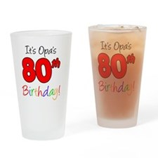 Opa 80th Birthday Drinking Glass