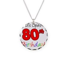 Opa 80th Birthday Necklace