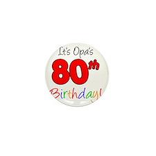 Opa 80th Birthday Mini Button