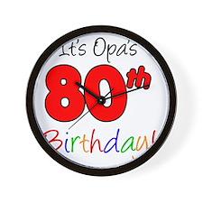 Opa 80th Birthday Wall Clock