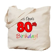 Opa 80th Birthday Tote Bag