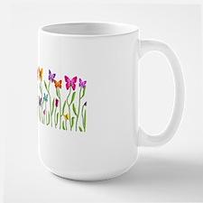 Butterfly Buds Teapot Large Mug