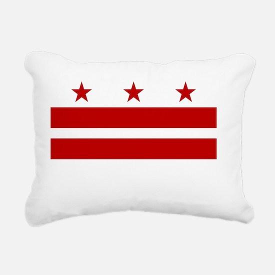 District of Columbia Fla Rectangular Canvas Pillow