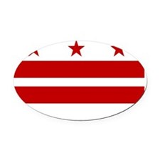 District of Columbia Flag Oval Car Magnet
