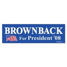 Sam Brownback for President '08 Bumper Bumper Sticker